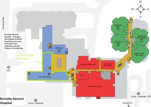 Burnaby Hospital Floorplan 4th