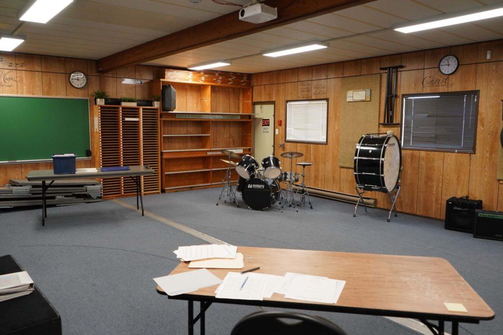 School Huts film location